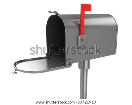 3d illustration of generic mailbox over white background - stock photo