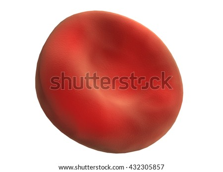 3D illustration of human red blood cells - stock photo