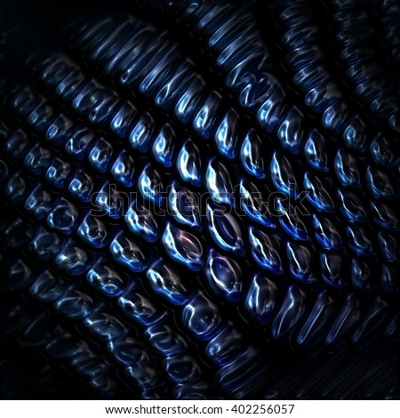 3d illustration of metallic fish scales - stock photo
