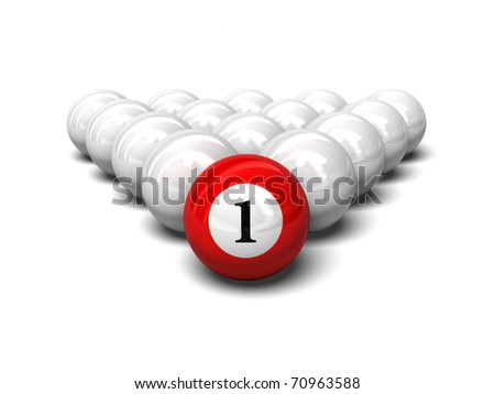 3d illustration of red ball - stock photo