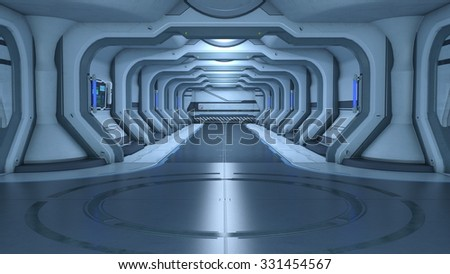 3D illustration of space station  - stock photo