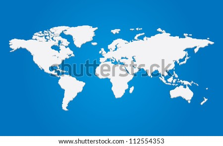 3d illustration of the world map - stock photo