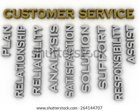 3d image customer service  issues concept word cloud background - stock photo