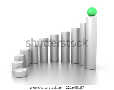 3D image of ball, representing leadership. - stock photo