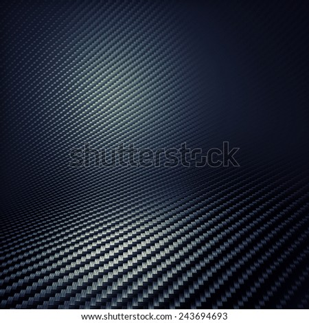 3d image of carbon background - stock photo
