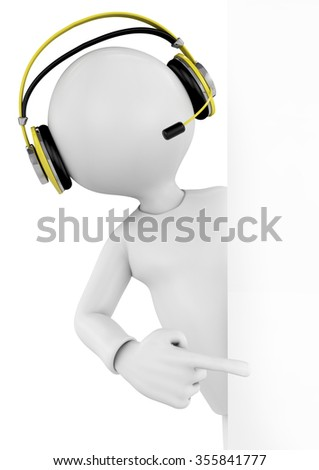 3d image with a work path, support operator.  - stock photo