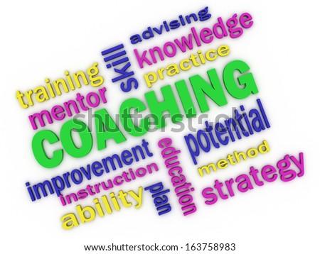 3d imagen about coaching concept - stock photo