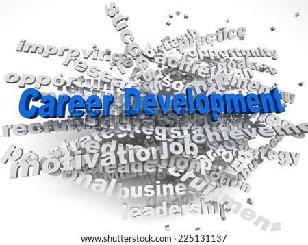 3d imagen Career development  concept word cloud background - stock photo