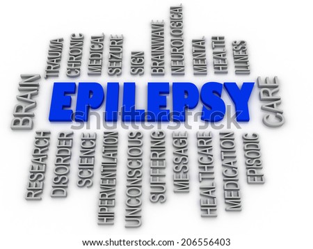 3d imagen, Epilepsy symbol. Neurological disorder icon conceptual design - stock photo