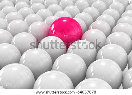 3d individual, out from the crowd. - stock photo