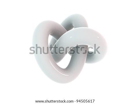 3d Infinity Shape - 3d render illustration - stock photo