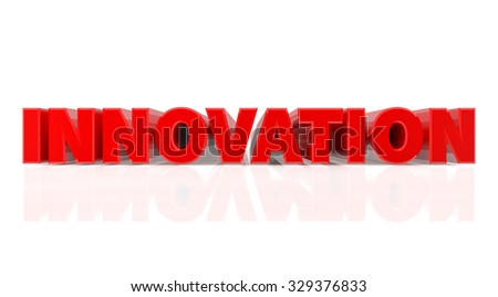 3D INNOVATION word on white background 3d rendering - stock photo