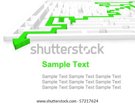3D Labyrinth - stock photo