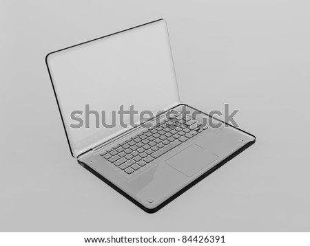 3D Laptop - stock photo