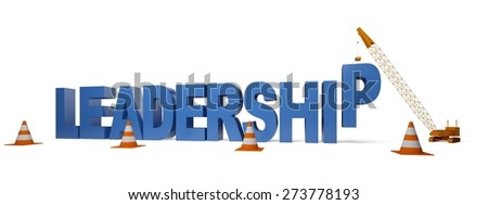 3D. Leadership, Organization, Construction. - stock photo