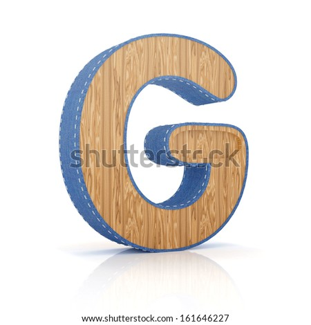 3d letter G from scrapbook alphabet collection isolated on white - stock photo