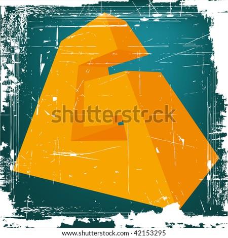 "3d letter ""G"" on GRUNGE background - stock photo"