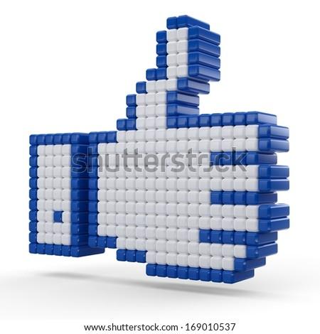 3D like symbol isolated on white background.  - stock photo