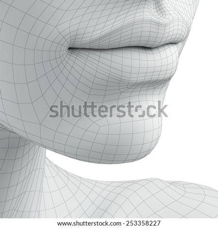 3d lips - stock photo