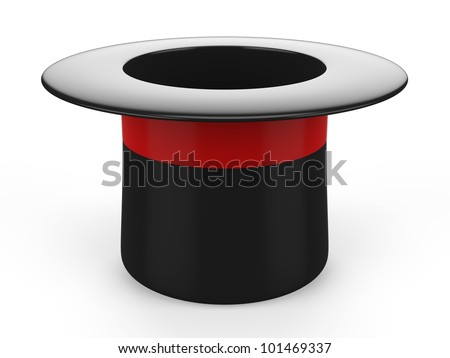 3d magic hat - stock photo