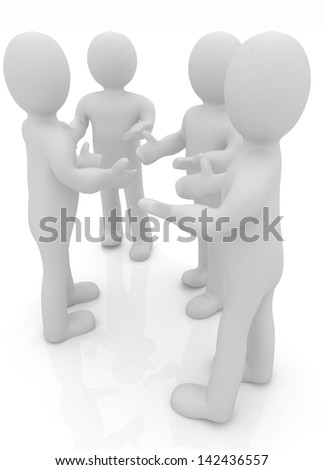 3d man. Discussion - stock photo