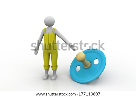 3d man with top - stock photo