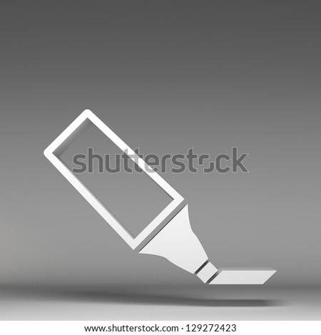 3d marker icon - stock photo