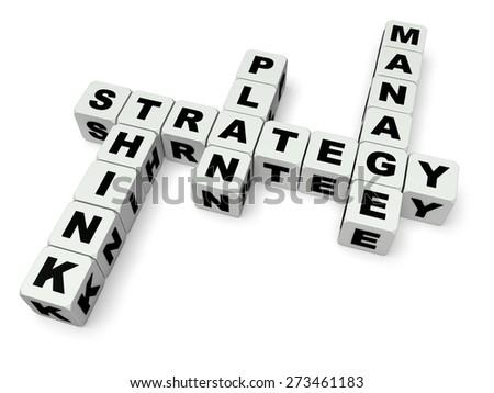 3D. Marketing, Business, Strategy. - stock photo