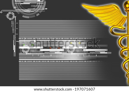 3d medical logo on a colour background - stock photo