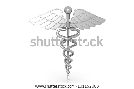 3d medical logo on a white background - stock photo