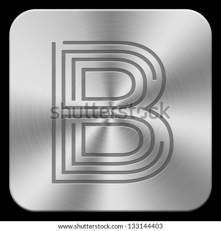 3d metal letters. (high-res.) - stock photo