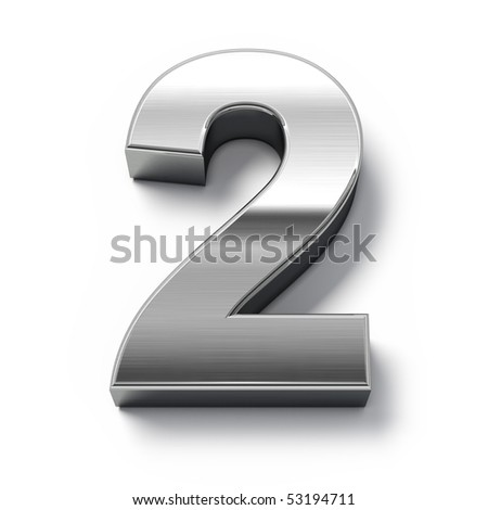3d Metal numbers - number 0 - stock photo
