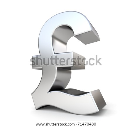 3d metal pound - stock photo