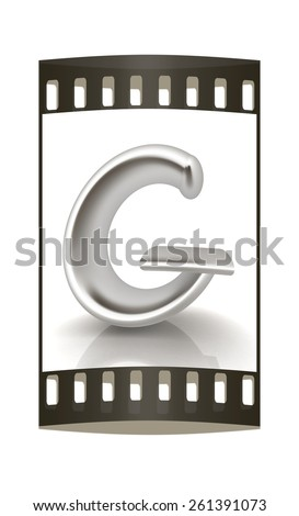 "3D metall letter ""G"" isolated on white. The film strip - stock photo"