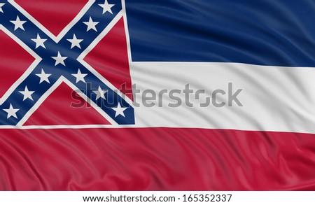 3D Mississippi Flag - stock photo