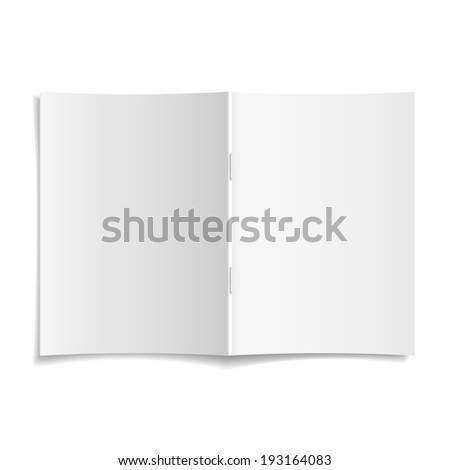 3d modern blank opened magazine cover template - stock photo