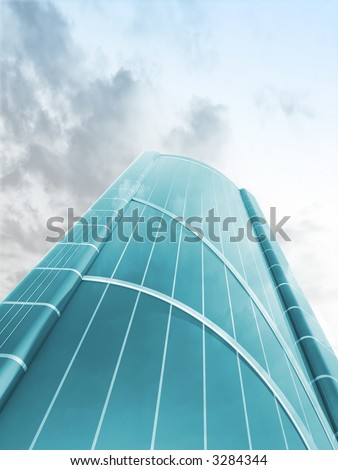 3d modern skyscraper - stock photo