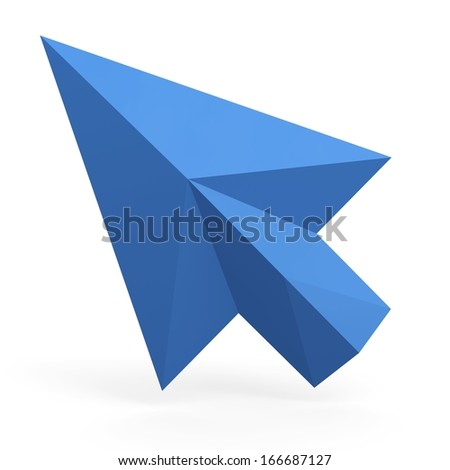 3d mouse cursor. 3d arrow. 3d pointer. - stock photo
