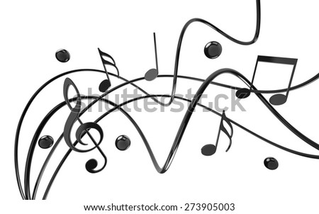 3D. Music, Musical Note, Jazz. - stock photo