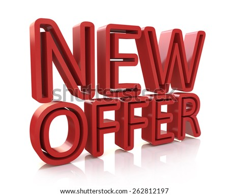 3D new offer word  - stock photo