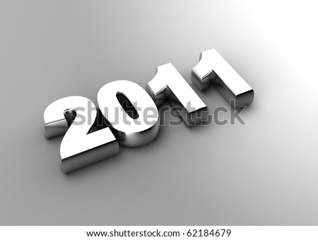 3d new year 2011 concept - stock photo