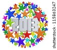 3D new year star 2013 - stock photo