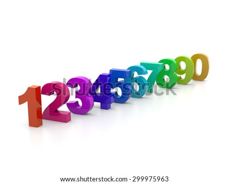 3d numbers - stock photo