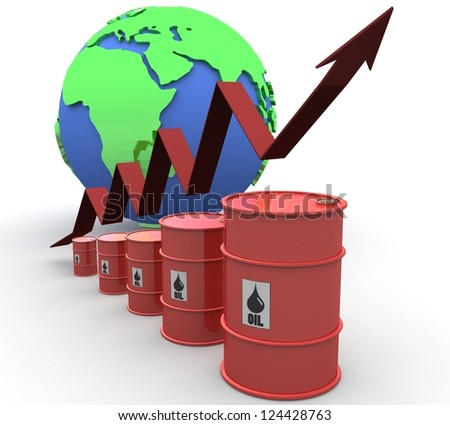 3D Oil trading concept - stock photo