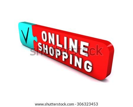 3D Online Shopping - stock photo