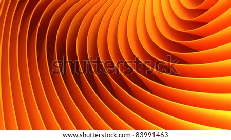 3d orange lines background - stock photo