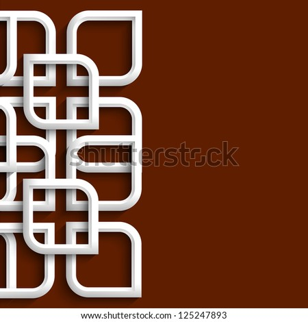 3d ornament in arabic style. Raster version - stock photo