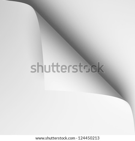 3d page curl - stock photo