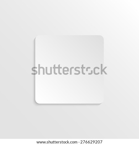 3D paper background with rectangle with place for text. Simple and stylish raster version illustration. Background template. - stock photo