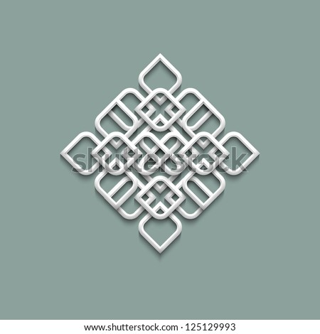 3d pattern in arabic style. Raster version - stock photo